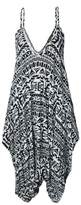 Oops Outlet Women's Thin Strap Lagenlook Romper Baggy Harem Jumpsuit Playsuit Plus Size (US)
