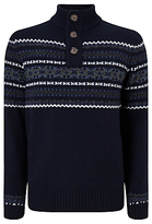 John Lewis Frosty Fair Isle Jumper, Navy