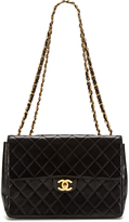 Chanel Vintage Black Quilted Lambskin Jumbo 2.55 Flap Bag