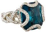 John Hardy Diamond & Topaz Batu Ring