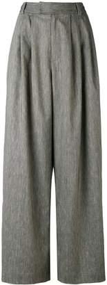 Pas De Calais pleated detail palazzo trousers