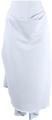 A.W.A.K.E. Mode Gathered Drape Midi Skirt