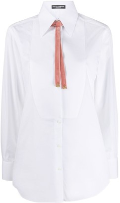 Dolce & Gabbana Bow Detail Smoking Shirt
