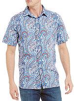 Daniel Cremieux Printed Paisley Short-Sleeve Woven Shirt