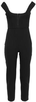 Cushnie Cropped Crepe Jumpsuit