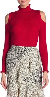 Nanette Nanette Lepore Cold Shoulder Ribbed Knit Sweater