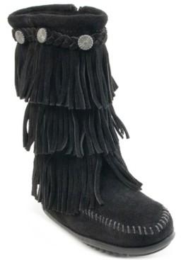 Minnetonka Big Girls 3-Layer Fringe Boot