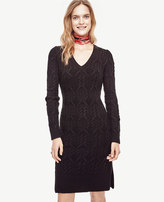 Ann Taylor Cable Sweater Dress