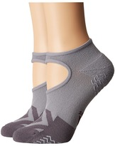 adidas Studio II Super No Show Socks 2-Pack Women's No Show Socks Shoes