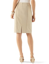 White House Black Market Twill Suit Pencil Skirt