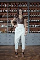 Sandra Weil Leather Tolouse Crop Top