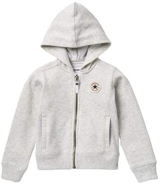 Converse Ribbed Panel Hoodie (Little Girls)