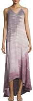 Young Fabulous and Broke Shanice Tie-Dye Ombre Sleeveless Maxi Dress, Hibiscus Water Ripple Wash