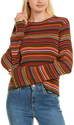 Autumn Cashmere Cotton By Boxy Stripe Rib Sweater