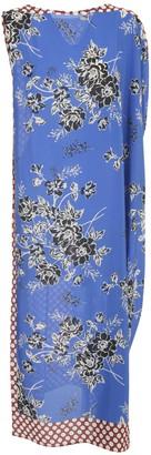 P.A.R.O.S.H. Long Dress W/foulard Fantasy Bluette