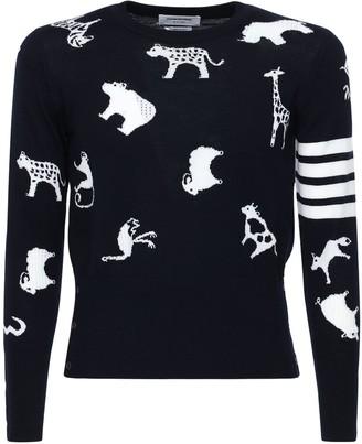 Thom Browne Animals Intarsia Wool Sweater