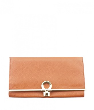 Salvatore Ferragamo Orange Leather Purses, wallets & cases
