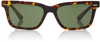 Oliver Peoples Tortoise BA Square Sunglasses