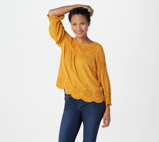 Haute Hippie Tribe 'Rena' Woven Embroidered Blouse