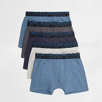 River Island Big and Tall blue trunks 5 pack