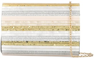 Kurt Geiger Party Envelope metallic clutch bag
