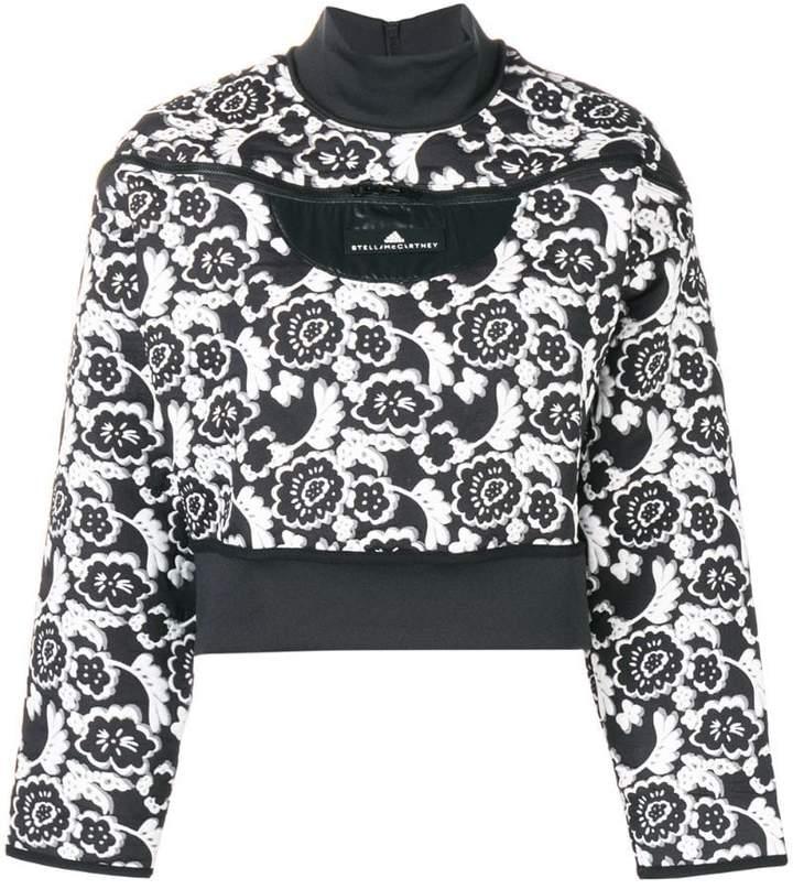 adidas by Stella McCartney flower print logo sweatshirt