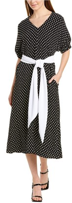 Sara Campbell Polka Dot Midi Dress