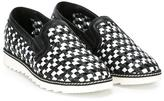 Dolce & Gabbana woven sneakers - kids - Calf Leather/rubber - 31