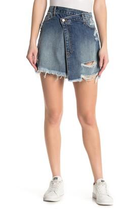 Fidelity Emma Jean Wrap Denim Skirt