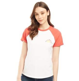 Jack Wills Womens Henliston Raglan T-Shirt White