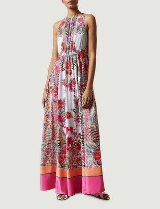 Ted Baker Laniah Samba floral-print satin maxi dress