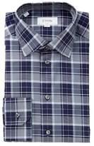 Eton Plaid Trim Fit Dress Shirt
