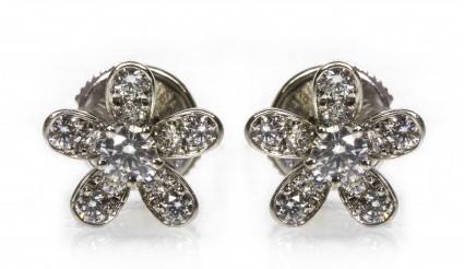 Van Cleef & Arpels excellent (EX) Pave Diamond & 18k White Gold Socrate Earrings
