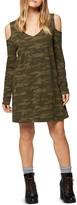 Sanctuary Morgan Cold-Shoulder Camouflage T-Shirt Dress