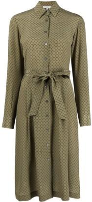 Antonelli Polka Dot-Print Silk Midi Dress