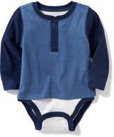 Old Navy 2-in-1 Henley Bodysuit for Baby