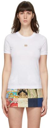 Dolce & Gabbana White Metal Logo T-Shirt