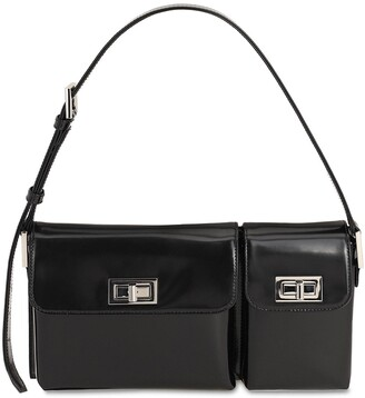 BY FAR Billy Semi Patent Leather Shoulder Bag