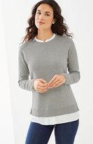 J. Jill Mixed-Media Shirttail Pullover