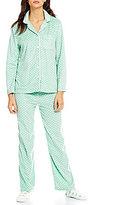 Karen Neuburger Holiday Dotted Microfleece Pajamas & Socks Set