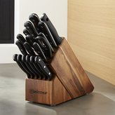 Crate & Barrel Wüsthof ® Gourmet 18-Piece Acacia Knife Block Set