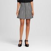 Women's Houndstooth Zip Front Skirt - XOXO(Juniors')