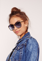 Missguided Oversized Tortoise Shell Frame Sunglasses Brown