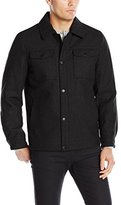 Nautica Men's Wool Melton Snap Front Jacket