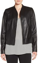 Halogen Open Front Leather Jacket (Regular & Petite)