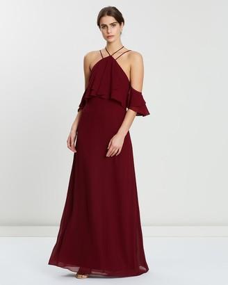 Alabaster The Label Cascades Dress with Detachable Arm Piece
