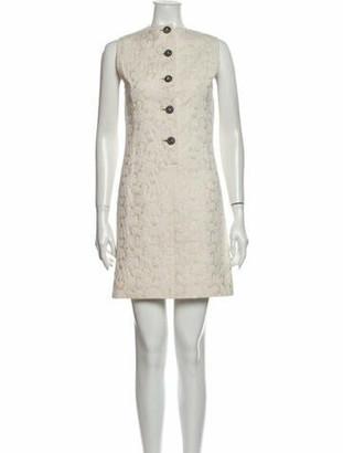 Dolce & Gabbana Crew Neck Mini Dress Metallic