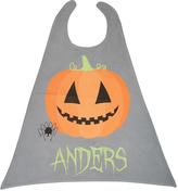 Gray & Orange Halloween Pumpkin Personalized Cape