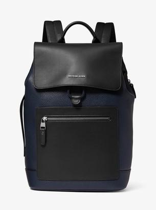 Micheal Kors Mens Hudson Pebbled Leather Backpack