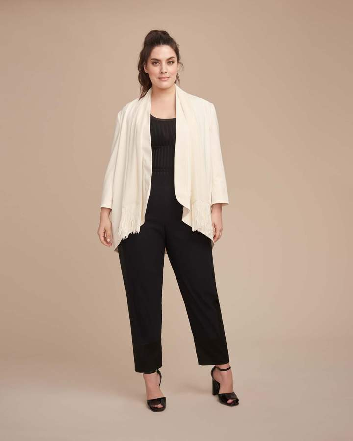 Sally LaPointe Stretch Satin Tapered Track Pant